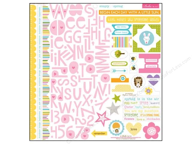 Bella Blvd Stickers Simply Spring Treasures & Text (12 sets)