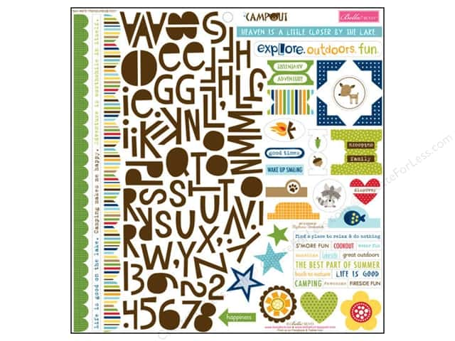 Bella Blvd Stickers Campout Treasures & Text (12 sets)