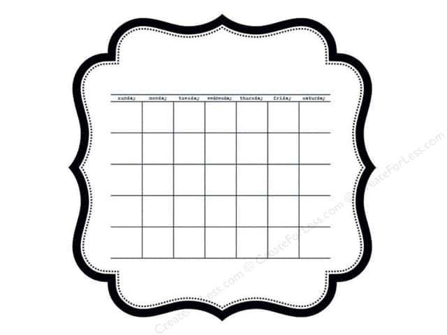 Bella Blvd Invisibles Die-Cut Transparency 12 x 12 in. Color Chaos Calendar (12 sheets)