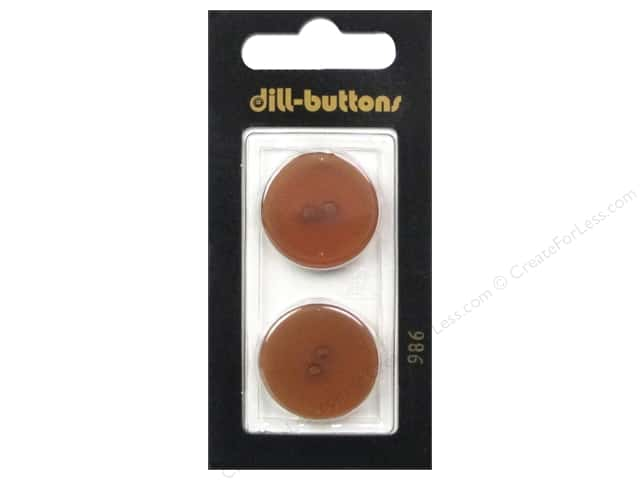 Dill 2 Hole Buttons 7/8 in. Brown #986 2 pc.
