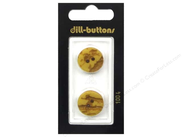 Dill 2 Hole Buttons 11/16 in. Yellow #1004 2 pc.