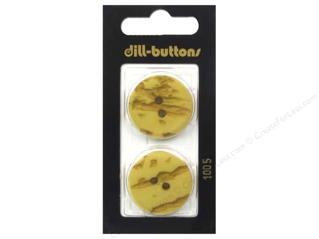 Dill 2 Hole Buttons 1 in.Yellow #1005 2 pc.