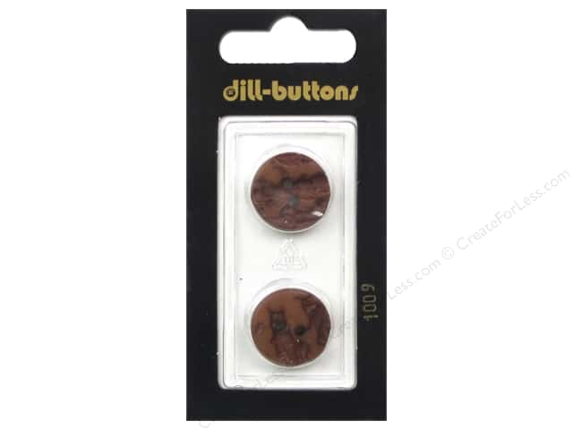 Dill 2 Hole Buttons 11/16 in. Brown #1009 2 pc.