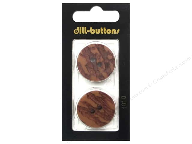 Dill 2 Hole Buttons 7/8 in. Brown #1010 2 pc.