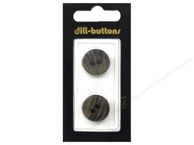 Dill 2 Hole Buttons 13/16 in. Brown #1045 2 pc.