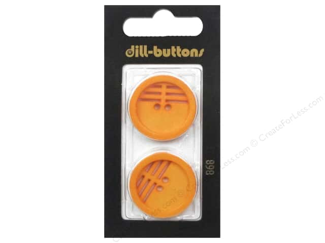 Dill 2 Hole Buttons 1 in. Orange #868 2 pc.