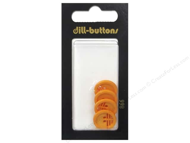 Dill 2 Hole Buttons 9/16 in. Orange #866 4 pc.