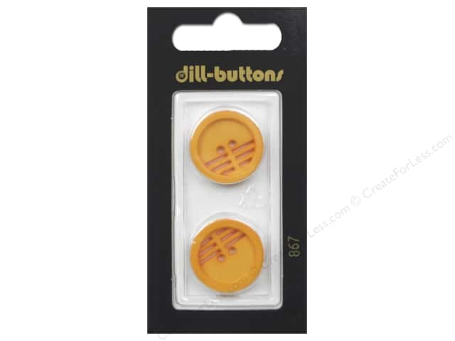 Dill 2 Hole Buttons 13/16 in. Orange #867 2 pc.
