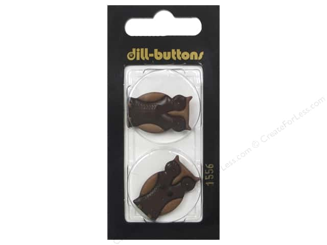 Dill 2 Hole Buttons 1 in. Brown Owl #1556 2 pc.