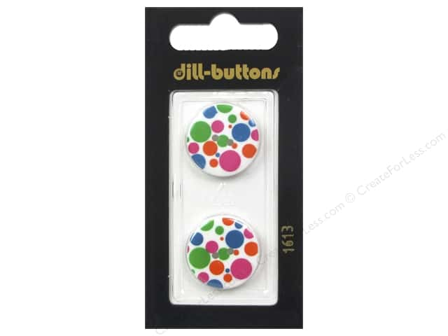 Dill 2 Hole Buttons 13/16 in. Polka-Dots #1613 2pc.