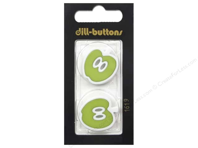 Dill 2 Hole Buttons 1 in. Green Apple #1619 2 pc.