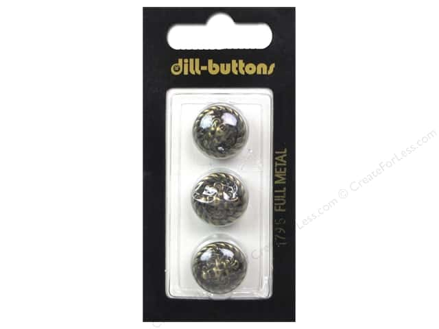 Dill Shank Buttons 9/16 in. Antique Brass #1795 3 pc.
