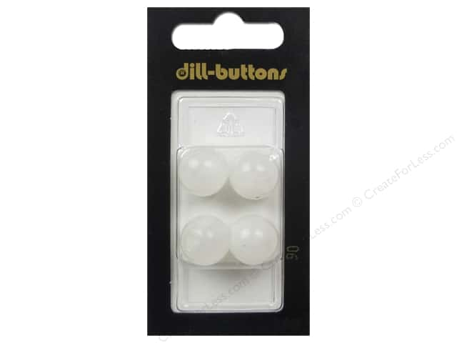 Dill Shank Buttons 9/16 in. White #90 4 pc.