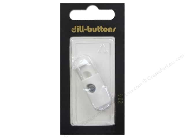 Dill Buttons Cord Stoppers 1 1/8 in. White #204 1 pc.