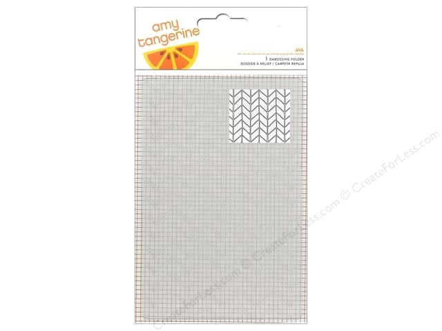 American Crafts Embossing Folder Amy Tangerine Rise & Shine Ava