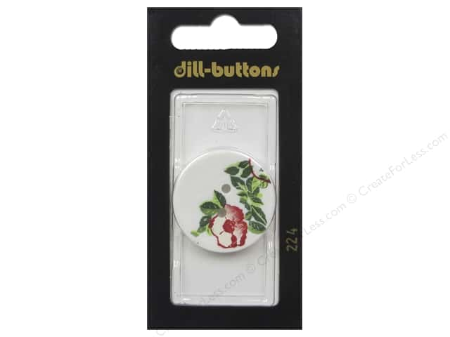 Dill 2 Hole Buttons 1 1/8 in. White #224 1 pc.
