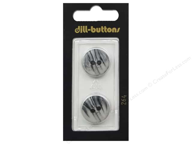 Dill 2 Hole Buttons 11/16 in. Grey #264 2 pc.