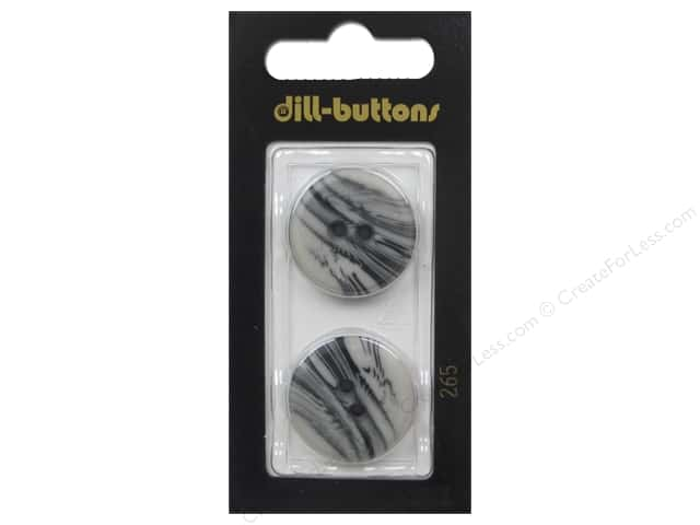 Dill 2 Hole Buttons 7/8 in. Gray #265 2 pc.