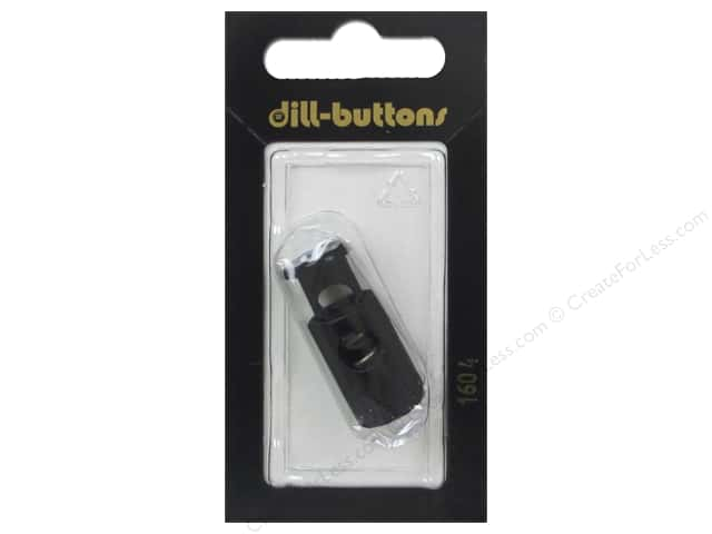 Dill Buttons Cord Stoppers 1 1/8 in. Black #1604 1 pc.