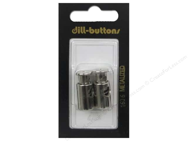 Dill Buttons Cord Stoppers 7/8 in. Silver #1606 2 pc.