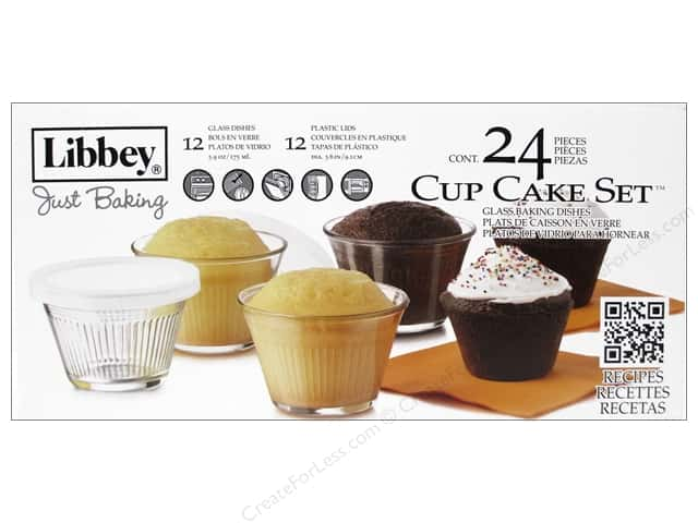 Crisa by Libbey Glass Just Baking Cupcake Dish 24 pc.