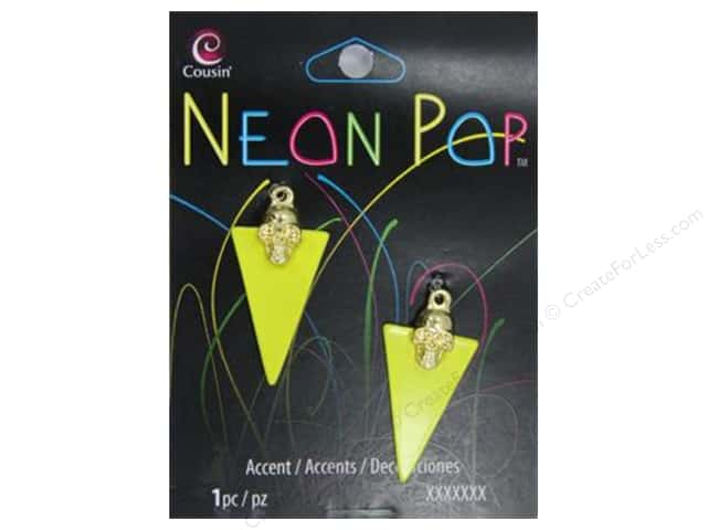 Cousin Neon Pop Collection Skeleton With Triangle Yellow 2pc