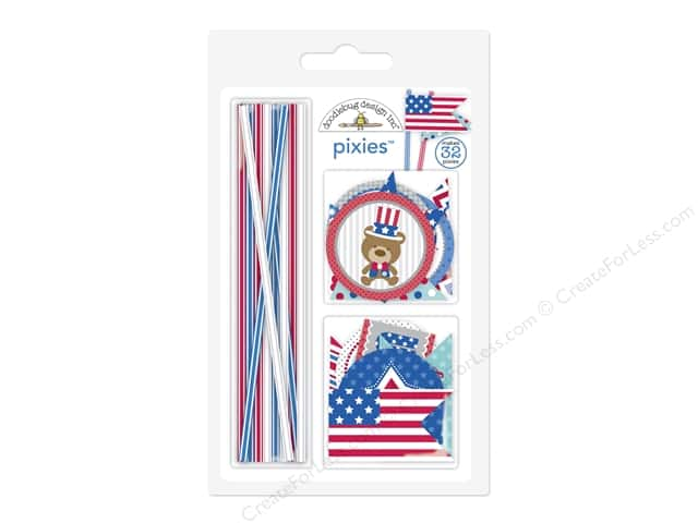 Doodlebug Pixies Patriotic Picnic Assorted Red/White/Blue