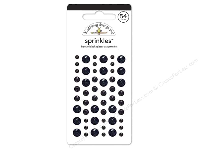 Doodlebug Sprinkles Stickers Glitter Beetle Black