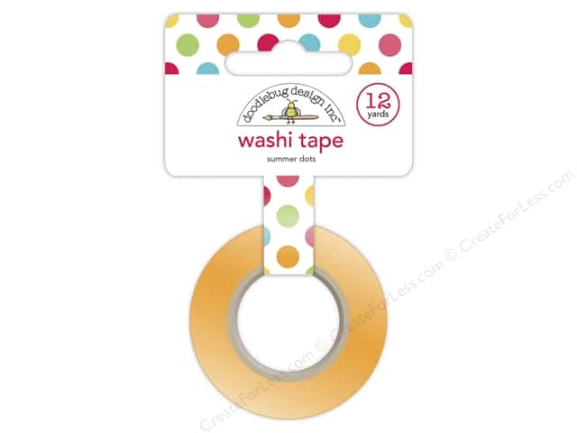 Doodlebug Washi Tape 5/8 in. x 12 yd. Sunkissed Summer Dots