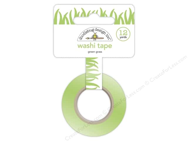 Doodlebug Washi Tape 5/8 in. x 12 yd. Sunkissed Grass Green