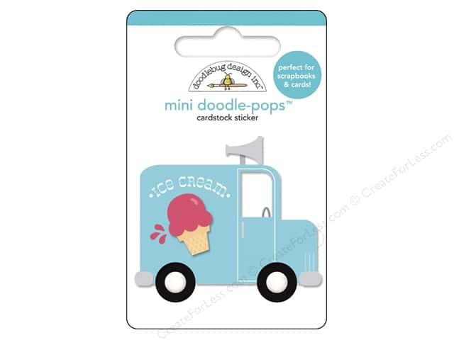 Doodlebug Doodle-Pops 3-D Stickers Sunkissed Ice Cream Truck