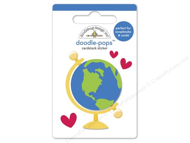 Doodlebug Doodle-Pops 3-D Stickers Back To School Small World (12 sets)
