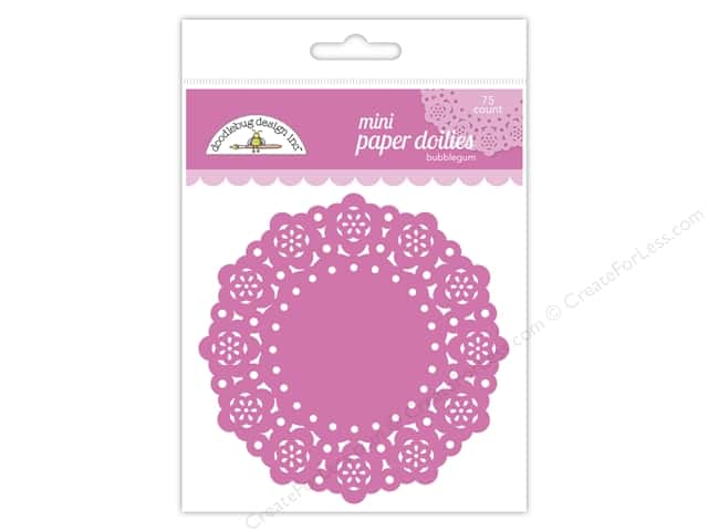 Doodlebug Doilies 75 pc. Mini Bubblegum