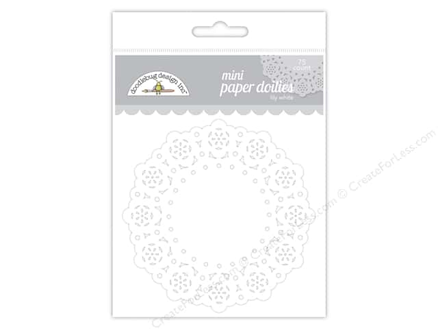 Doodlebug Doilies 75 pc. Mini Lily White