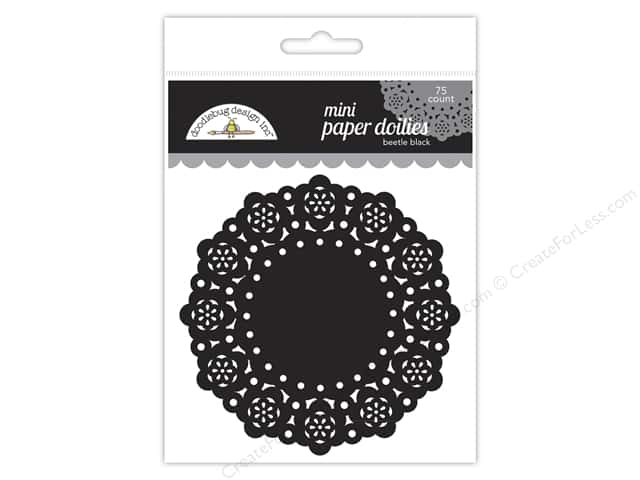 Doodlebug Doilies 75 pc. Mini Beetle Black