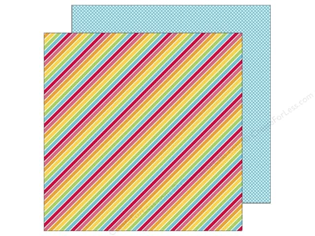 Doodlebug 12 x 12 in. Paper Sunkissed Beach Towel Stripe (25 sheets)