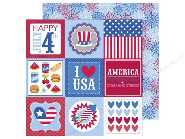 Doodlebug 12 x 12 in. Paper Patriotic Picnic 4th Of July (25 sheets)