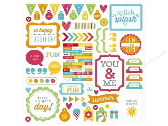 Doodlebug Sticker Sunkissed This & That (12 sets)