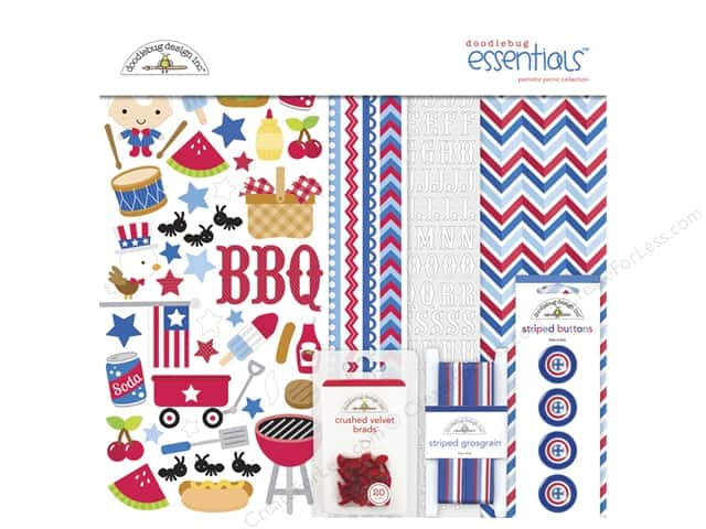 Doodlebug Essentials Kit Patriotic Picnic