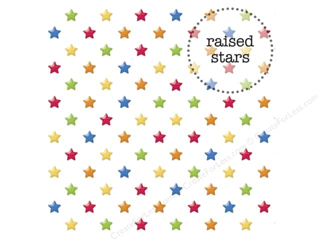 Doodlebug 12 x 12 in. Paper Back To School Vellum Sprinkles Stars (25 sheets)