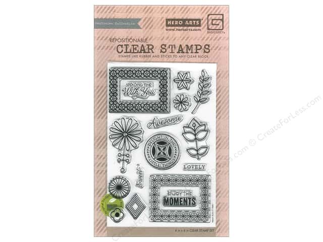 BasicGrey Clear Stamp 17 pc. Prism Spending Time With You