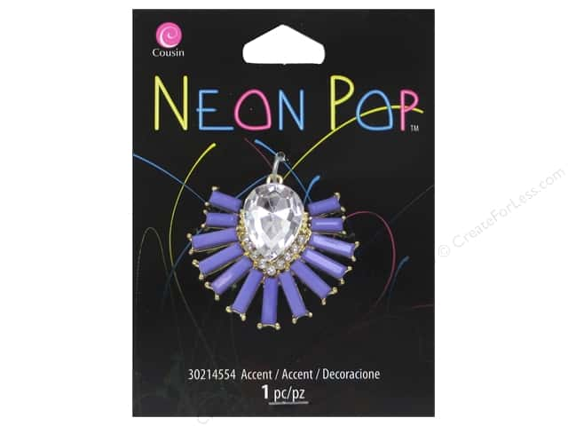 Cousin Neon Pop Collection Starburst Accents Purple/Clear