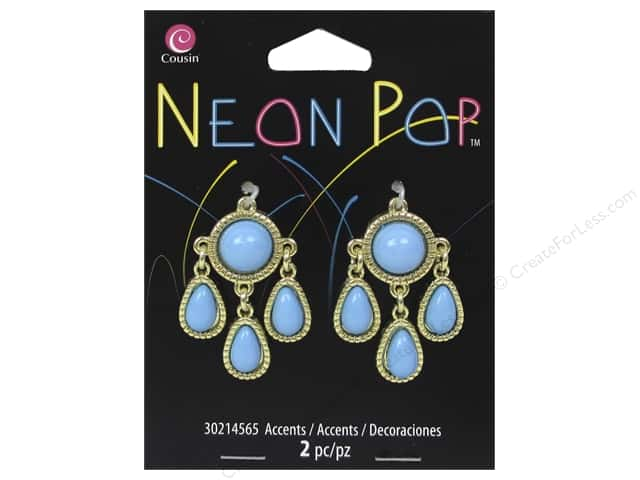 Cousin Neon Pop Collection Chandelier Accents Blue 2pc