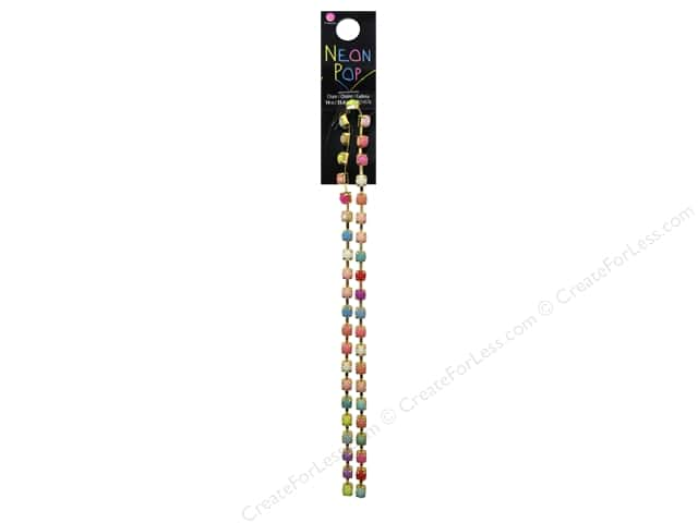 Cousin Neon Pop Collection Chain Multi Gold 14""