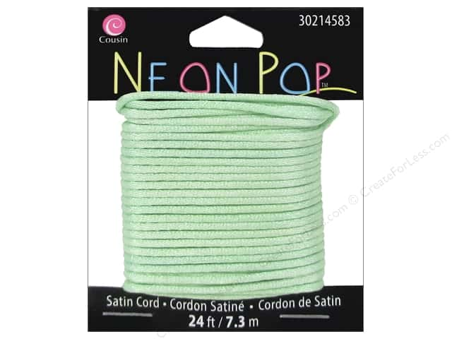 Cousin Neon Pop Collection Satin Cord Mint 24ft