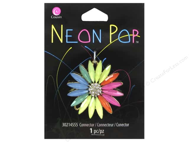 Cousin Neon Pop Collection Connector Daisy Multi