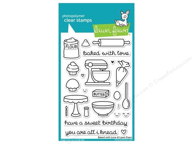 Lawn Fawn Clear Stamp Baked With Love