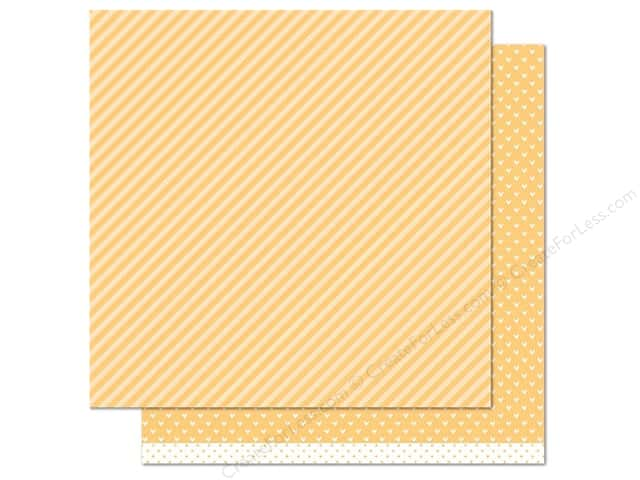 Lawn Fawn 12 x 12 in. Paper Let's Polka Lemon Line Dance (12 sheets)