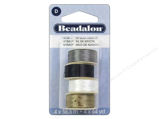 Beadalon Nymo Thread Size D 4 pc. Variety Pack