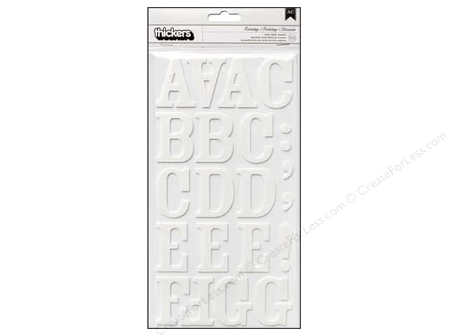 American Crafts Thickers Alphabet Stickers Rockabye White
